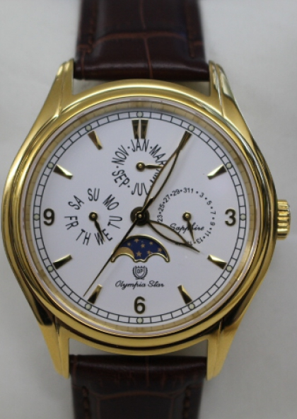 Đồng hồ Moon Phase Olympia Star nam OPA98022-06MKGL
