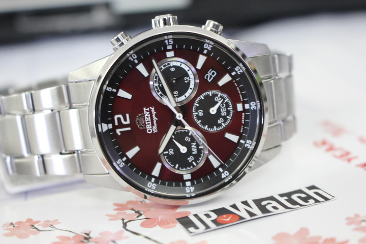 Chi tiết mặt đồng hồ Orient nam RA-KV0004R10B