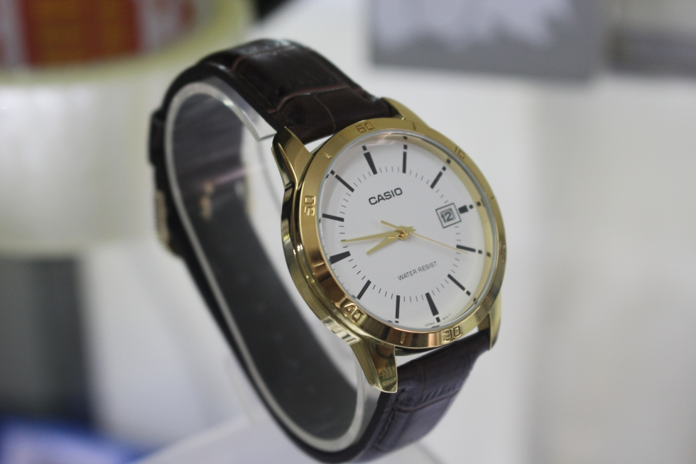 Đồng hồ nam dây da giá rẻ Casio MTP-V004GL-7AUDF