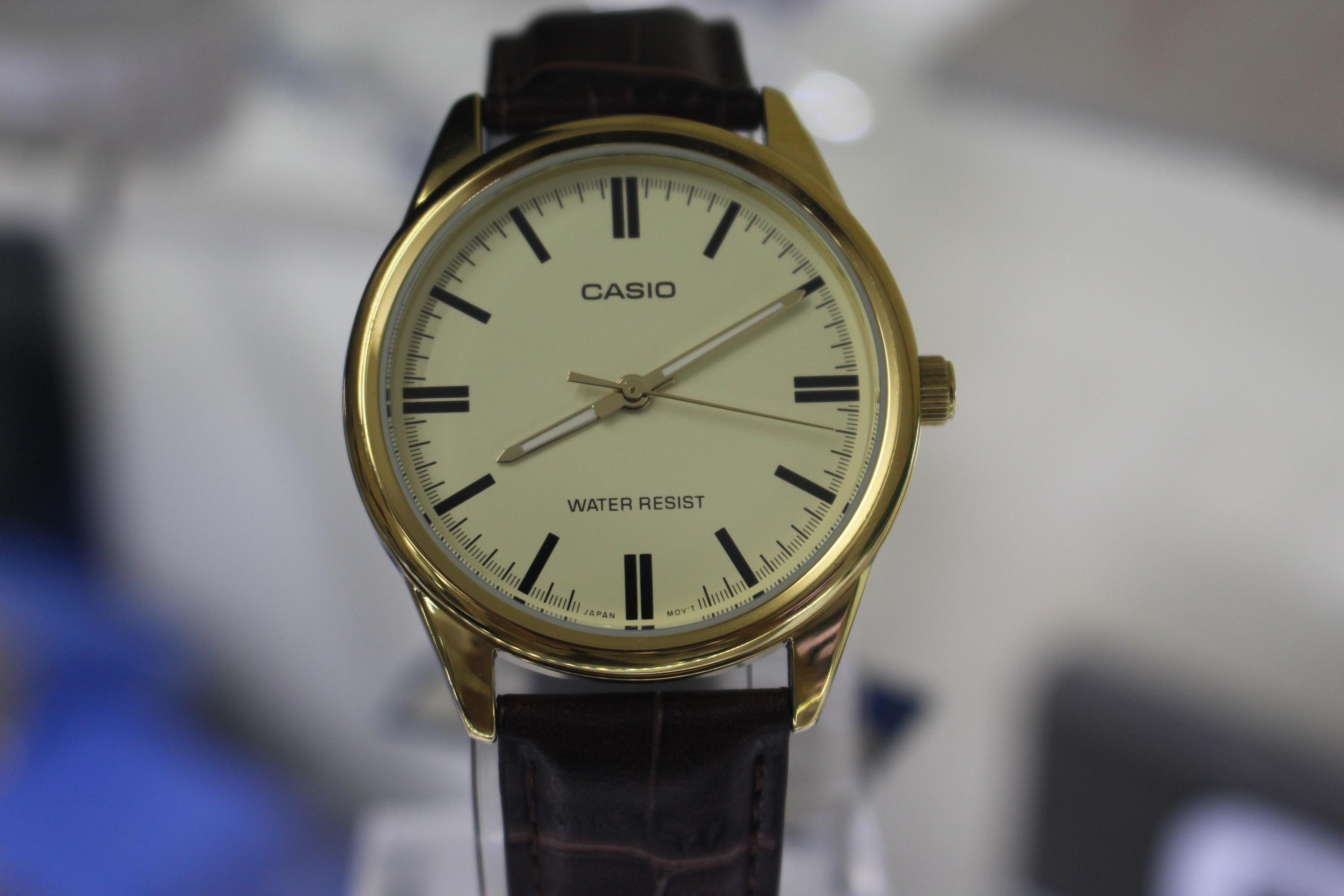 Đồng hồ nam Casio MTP-V005GL-9AUDF mặt tròn dây da