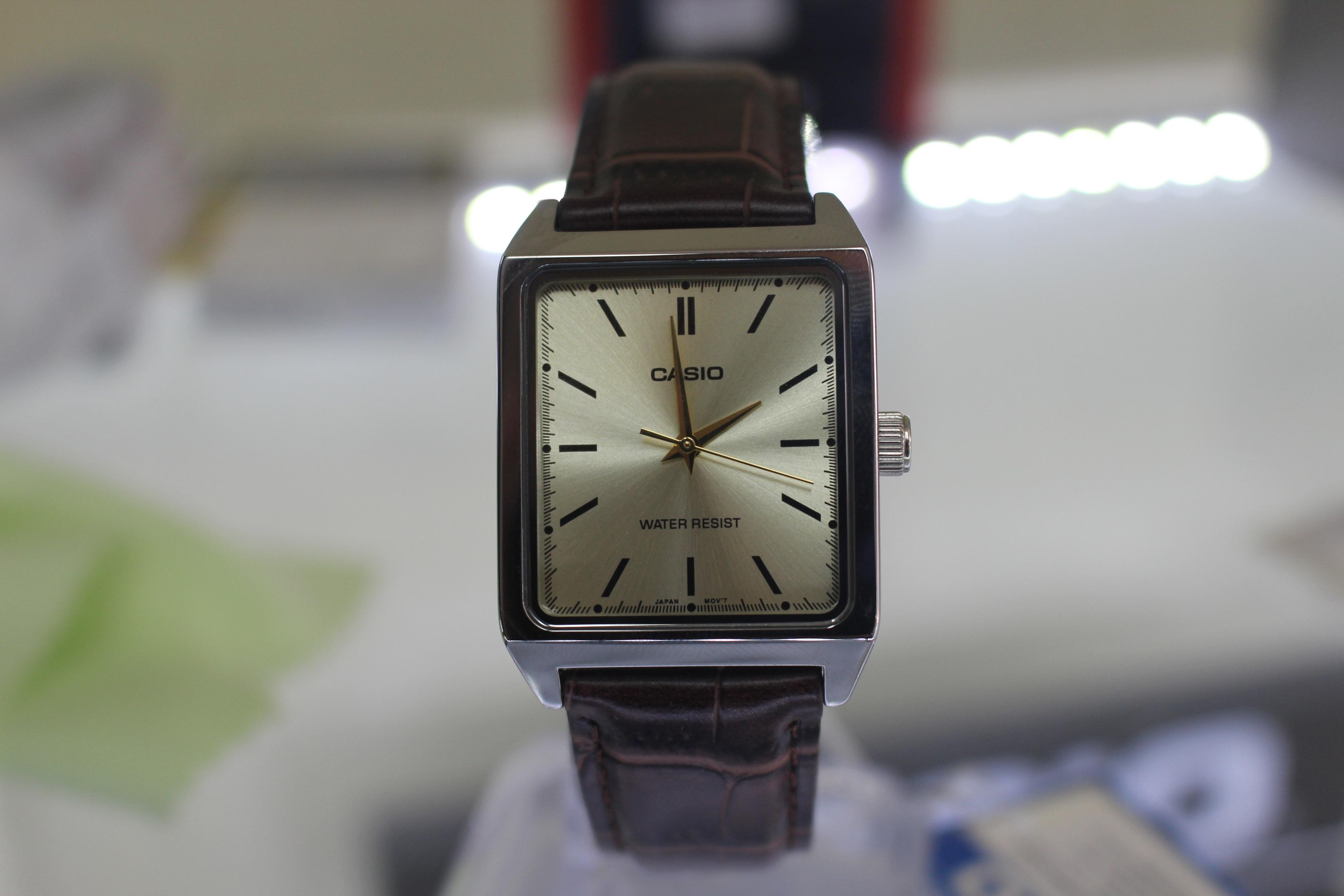 Đồng hồ nam giá rẻ dây da Casio MTP-V007L-9EUDF