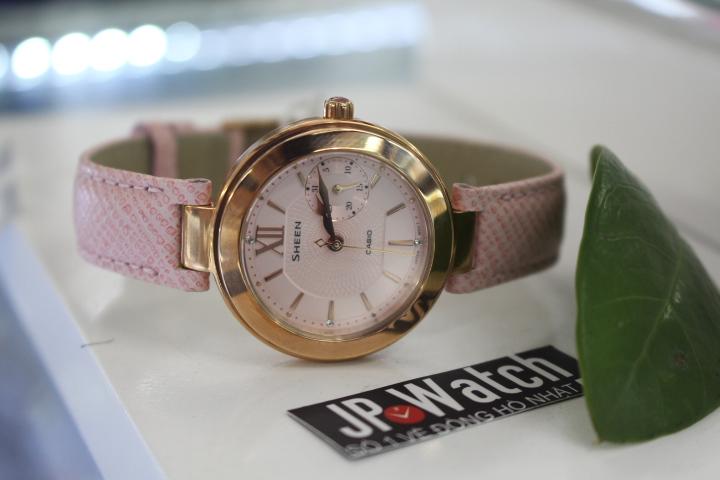 Vẻ đẹp sang chảnh của chiếc đồng hồ Casio Sheen SHE-3051PGL-4AUDR