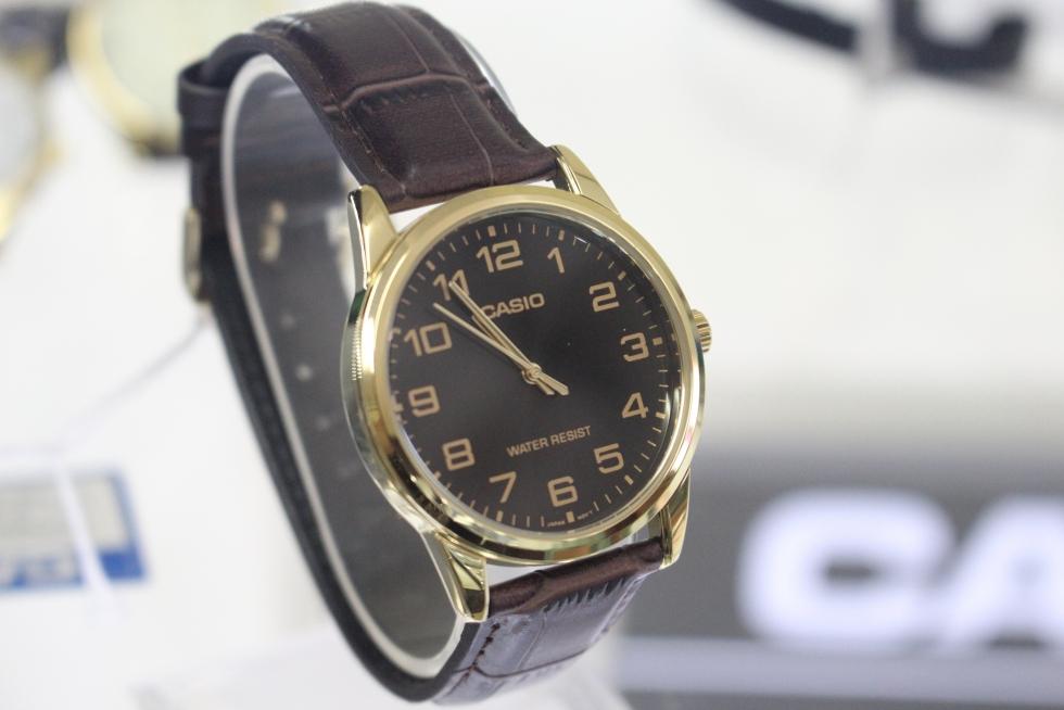 Đồng hồ nam dây da giá rẻ dưới 600k Casio MTP-V001GL-1BUDF