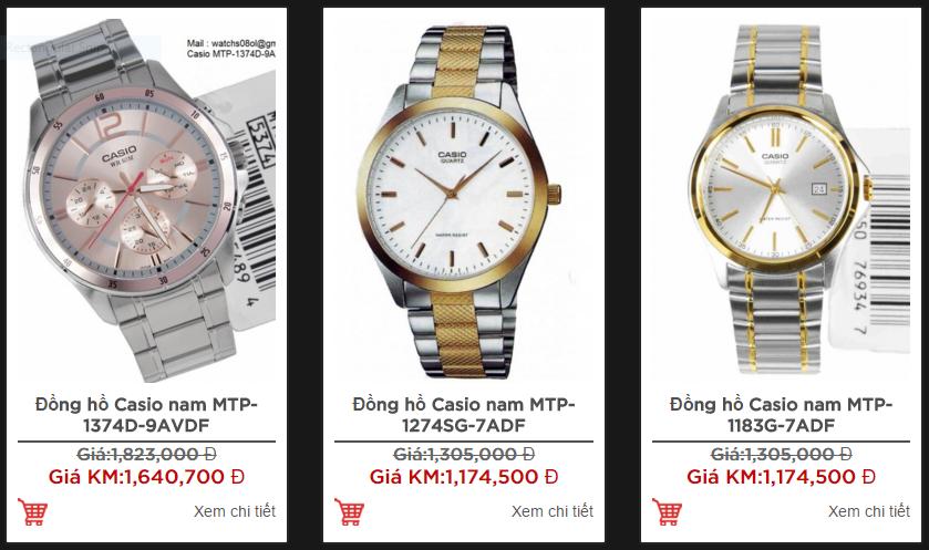 Thêm một số mẫu đồng hồ nam Casio dưới 2 triệu