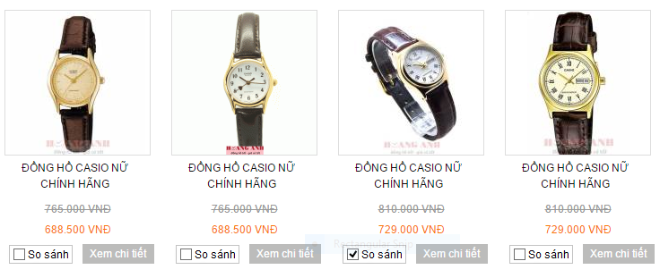 Một số mẫu đồng hồ nữ Casio cao cấp tại JPWatch