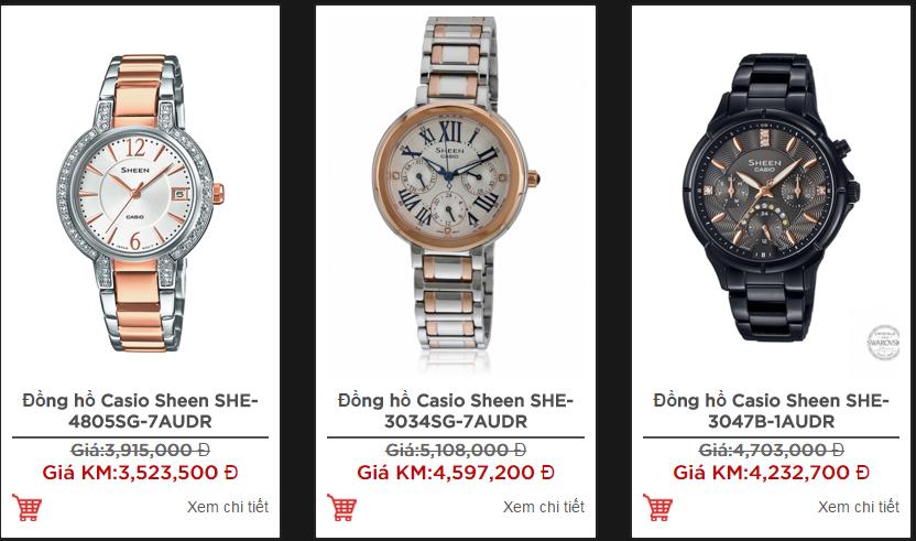 Các mẫu đồng hồ Casio Sheen luôn có đủ các loại dây để bạn chọn