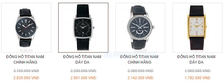 Các mẫu đồng hồ nam chính hãng tại Hà Nội