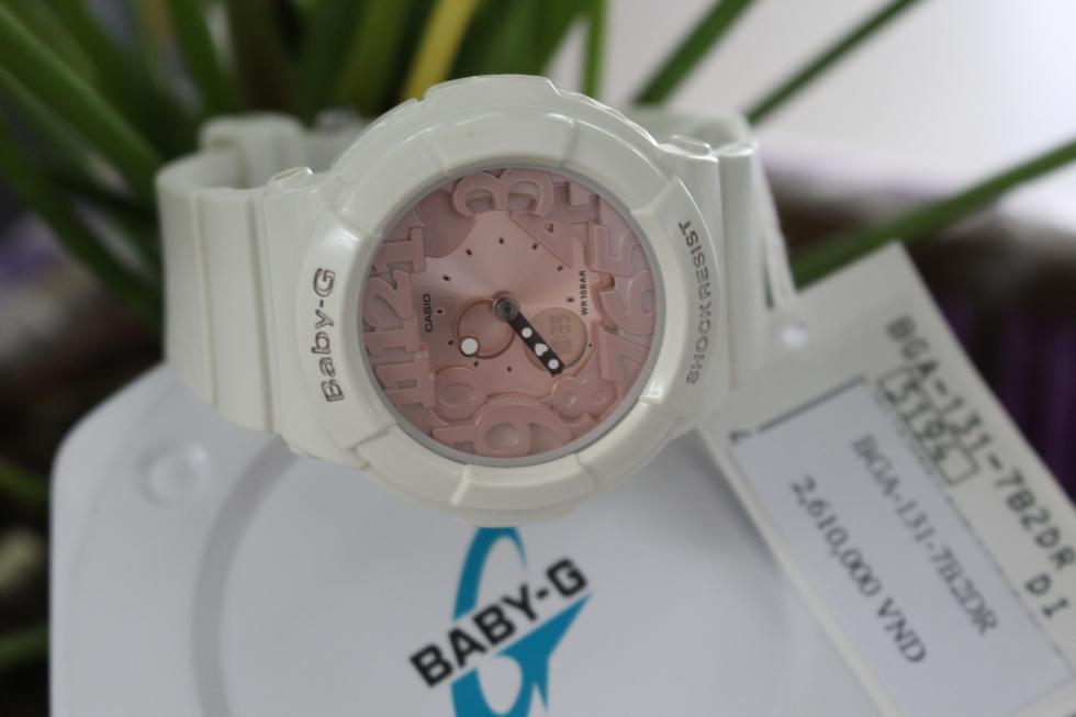 Cận cảnh chiếc đồng hồ CASIO BABY-G BGA-131-7B2DR