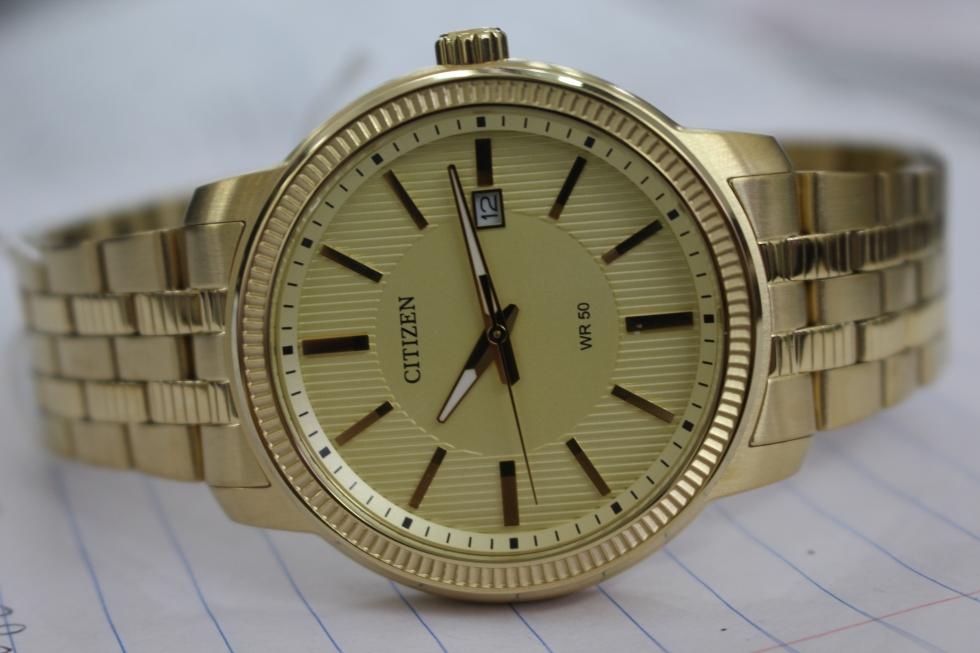 đồng hồ nam mạ vàng citizen