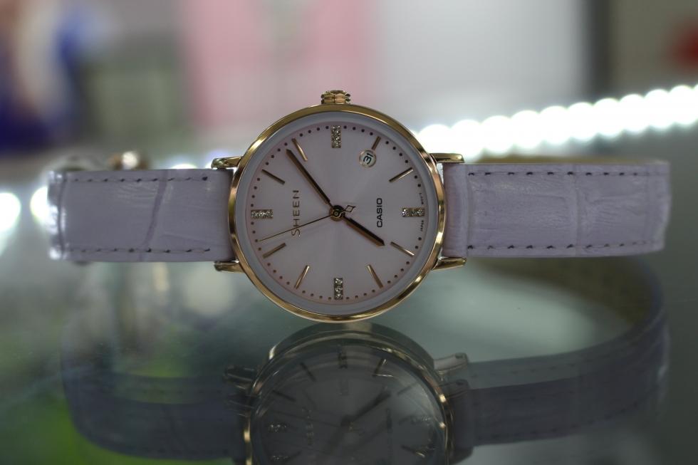 Vẻ đẹp của đồng hồ Casio Sheen SHE-4048PGL-6AUDR