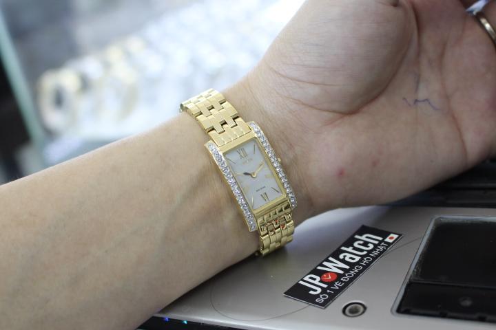 đồng hồ citizen nữ mạ vàng