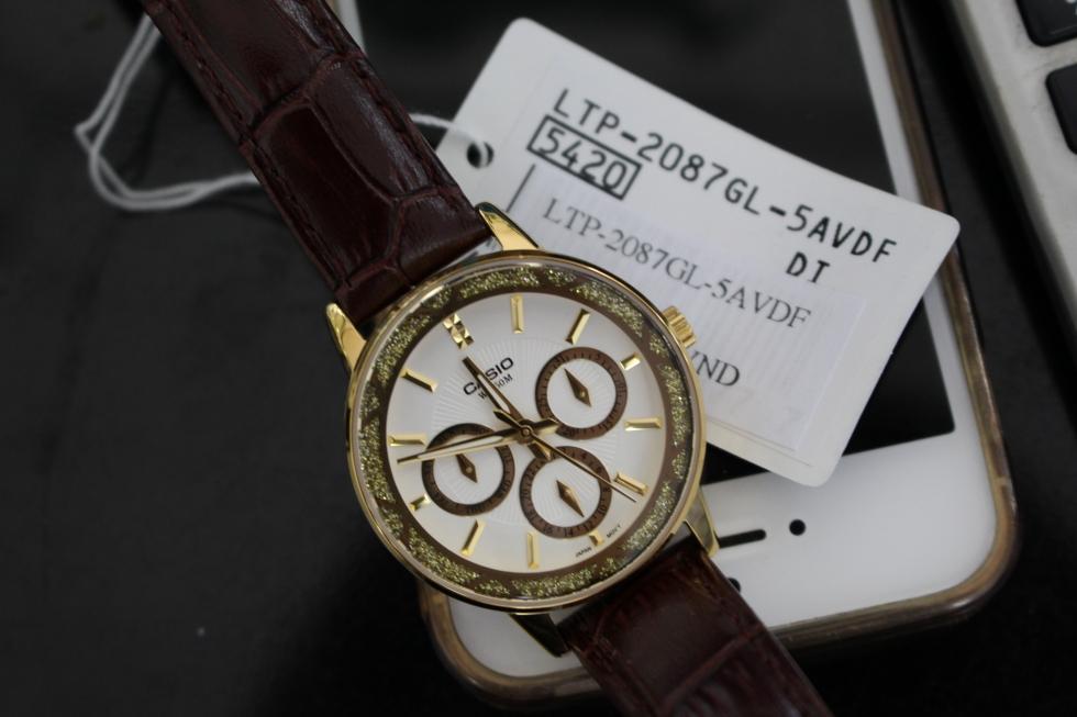 Đồng hồ nữ dây da Casio LTP-2087GL-5AVDF