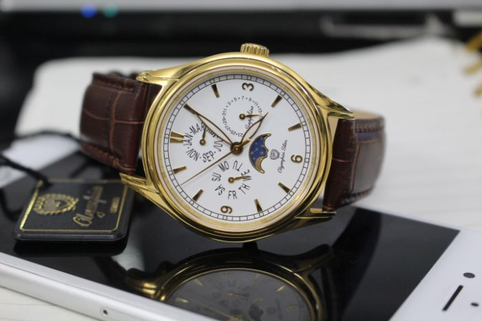 đồng hồ Moon phase Olympia Star OPA98022-06MKGL