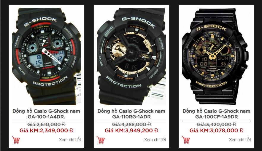 Đồng hồ nam Casio G-shock chống nước cực tốt