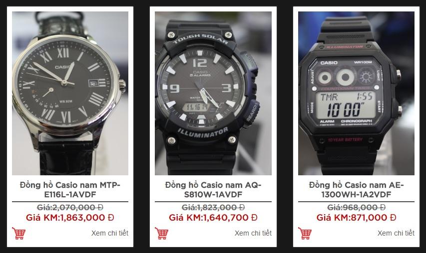 Đồng hồ nam Casio giảm giá