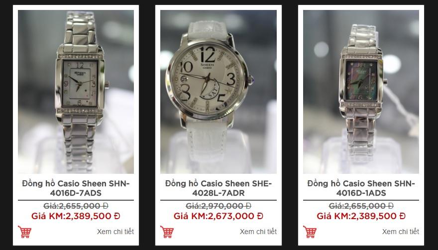 Đồng hồ chống nước tốt cho nữ Casio Sheen