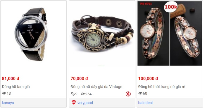 Đồng hồ nữ giá rẻ dưới 100k