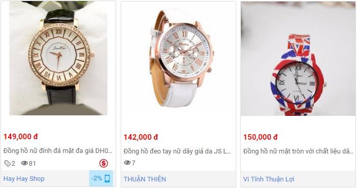 Đồng hồ nữ giá rẻ khoảng 150k