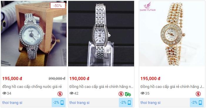 Đồng hồ nữ giá rẻ khoảng 200k