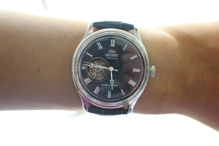 đồng hồ Orient mặt xanh FAG00004D0