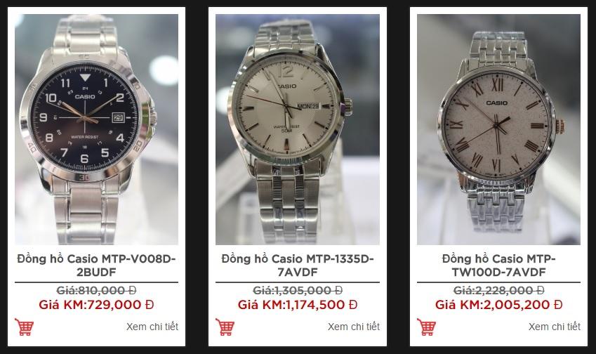 Không mua đồng hồ nam Casio giảm giá quá sâu